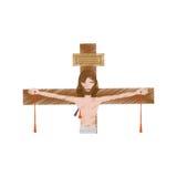 Drawing jesus christ dies cross. Illustration eps 10 Royalty Free Stock Images