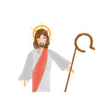 Drawing jesus christ resurrects Royalty Free Stock Photos