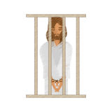 Drawing jesus christ sentenced death Royalty Free Stock Images