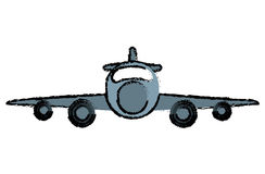 Drawing jet airplane private transport front view. Vector illustration eps 10 Royalty Free Stock Photo