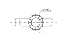 Drawing Jewels Ring Vector Illustration Royalty Free Stock Photo