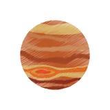 Drawing jupiter planet system solar Stock Images