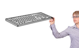 Drawing keyboard Stock Photo