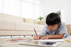 Drawing kid Royalty Free Stock Photography