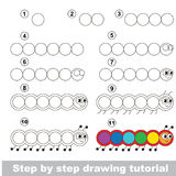 Drawing kid tutorial. Kid education and gaming - the drawing tutorial for preschool children with easy educational kid game level, the funny drawing school. How vector illustration