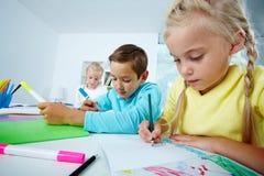 Drawing kids Royalty Free Stock Photo