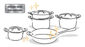 Drawing kitchenware Royalty Free Stock Images