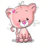 Drawing Kitten Stock Image