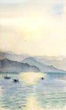 Drawing Lake Royalty Free Stock Photo