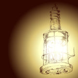 Drawing of lamp Stock Images