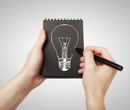 Drawing lamp Royalty Free Stock Photos