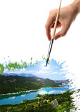 Drawing Landscape Royalty Free Stock Image