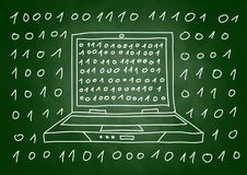 Drawing of laptop Royalty Free Stock Photo