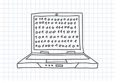 Drawing of laptop Stock Images