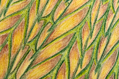 Abstract drawing. A close-up of a conte abstract drawing Royalty Free Stock Photography
