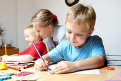 Drawing lesson Royalty Free Stock Photography