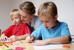 Drawing lesson Royalty Free Stock Photos