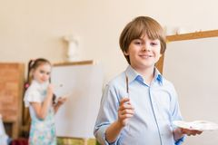 Drawing lesson Stock Photography