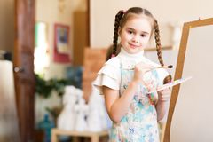 Drawing lesson Stock Image