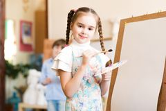 Drawing lesson Stock Photo