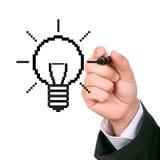 Drawing light bulb Royalty Free Stock Image