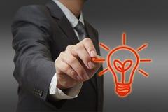 Drawing light bulb Stock Image