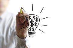 Drawing light bulb Royalty Free Stock Photo
