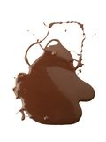 Drawing and liquid chocolate banner Stock Images