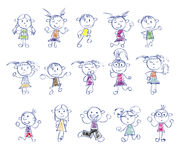 Drawing little children Royalty Free Stock Images