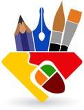 Drawing logo Royalty Free Stock Photos