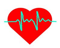 Drawing logo heart and diagram. royalty free illustration