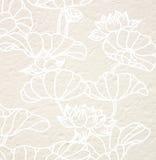 Drawing lotus flower Stock Images