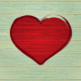 Drawing love symbol on old wooden.  + EPS8 Royalty Free Stock Images