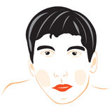 Drawing of the male person on white Stock Photography
