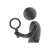 Drawing man with search figure pictogram. Illustration eps 10 Stock Photo