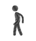 Drawing man standing posing figure pictogram. Illustration eps 10 Stock Photo
