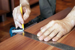 Drawing markup on the line. Royalty Free Stock Image