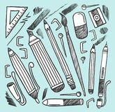Drawing Materials Stock Image