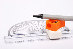Drawing materials Stock Photography