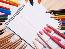 Drawing materials Royalty Free Stock Photos
