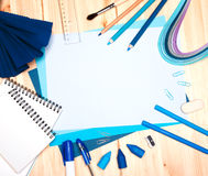 Drawing materials Royalty Free Stock Photos