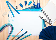 Drawing materials Stock Photo