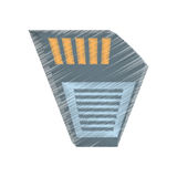 Drawing memory sd card back icon Stock Image