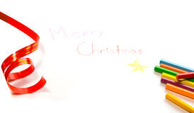 Drawing Merry Christmas Stock Photography