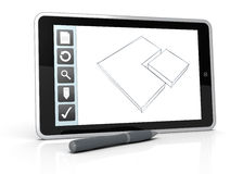 Drawing on mobile device Royalty Free Stock Photography