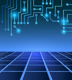 Drawing modern electronic circuit Stock Photo