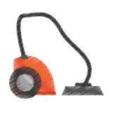 Drawing modern vacuum cleaner appliance Stock Photography