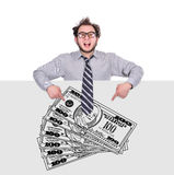 Drawing money Stock Photography