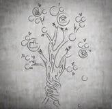 Drawing money tree Stock Photography
