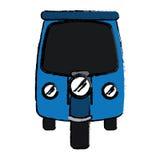 Drawing motor rickshaw transport tricycle Stock Photo